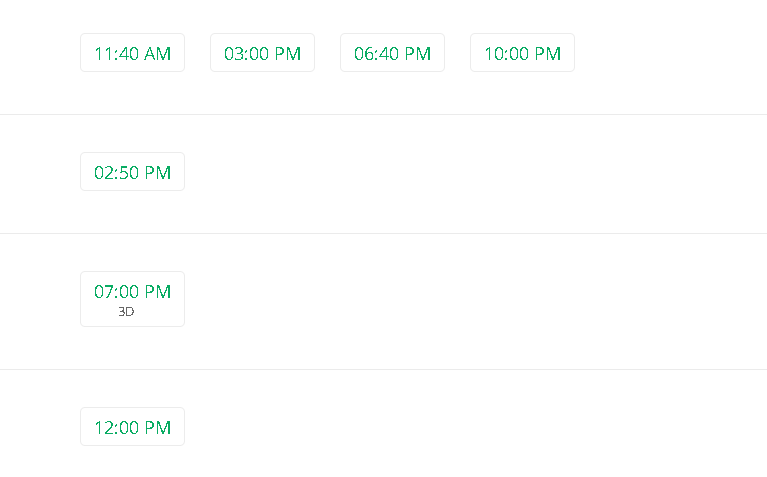 Vettri Theatre show timings