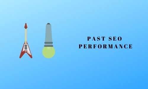 Past SEO performance