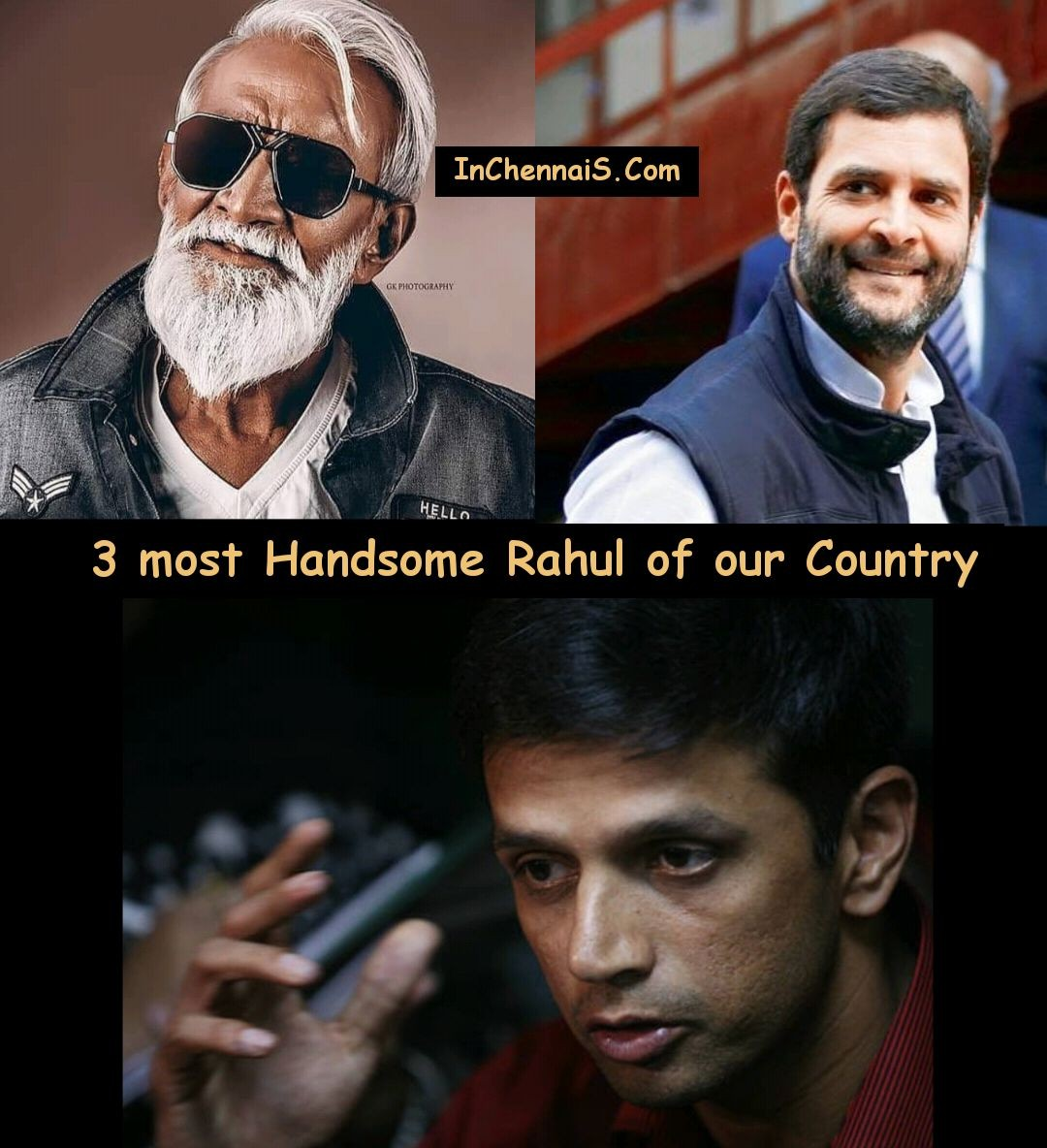 3 Most Handsome Rahul of India - Rahul Thatha Meme