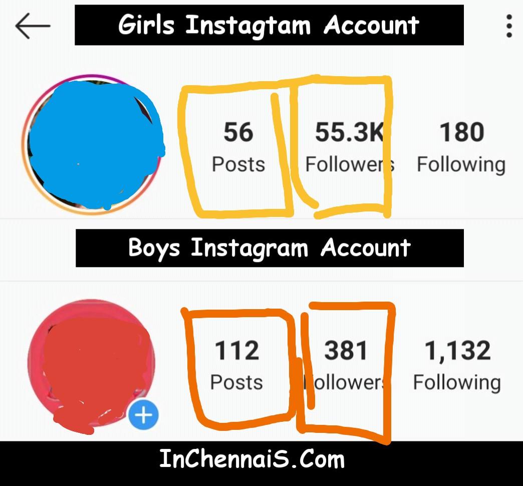 Girls Insta Vs Boys Insta