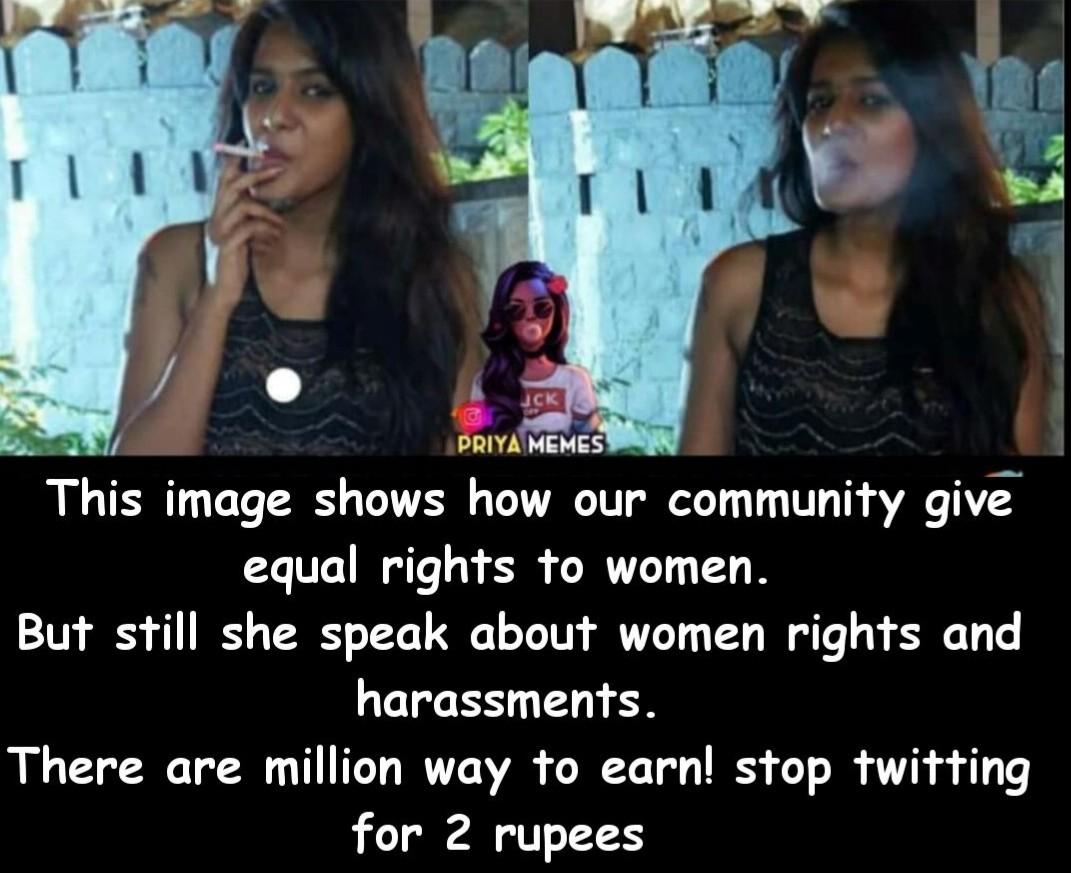 Meera Mithun Smoking meme