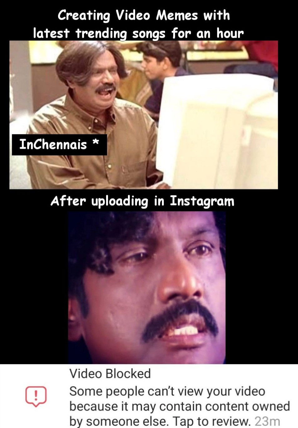 Video Meme Creation for Instagram - Tamil Meme