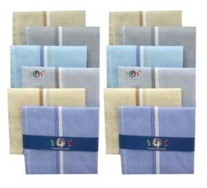 S4S Mens Cotton Essential Handkerchiefs
