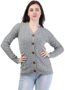 Kalt Womens Acrylic VNeck Sweater