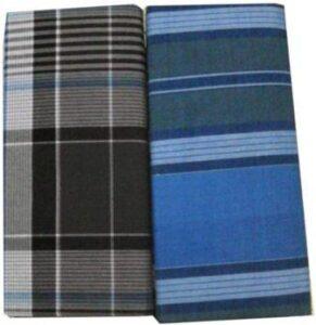 SBNLIFESTYLE Cotton Stitched Lungis