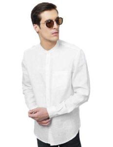 Basics Slim Fit White Shirt