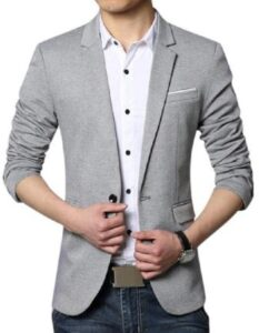 MENJESTIC Regular Fit Single breasted Blazer