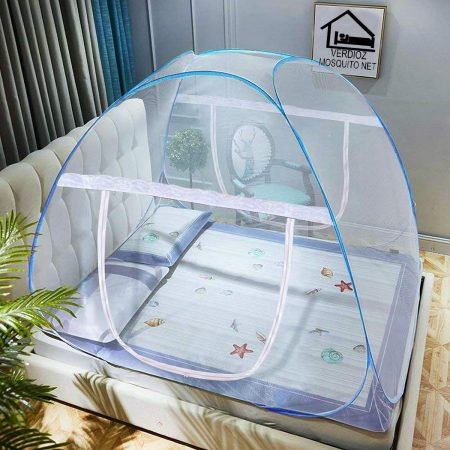 VERDIOZ WITH DEVICE Foldable Poly Cotton Double Bed